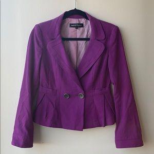Nanette Lepore purple blazer jacket
